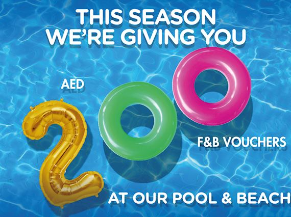 Pool & beach offer